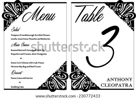 Abstract wedding invitation card rsvp vector stock vector black white wedding invitation card vector template stopboris Images