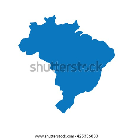 Blank Blue Unites State Map Vector Stock Vector - Blank us map template