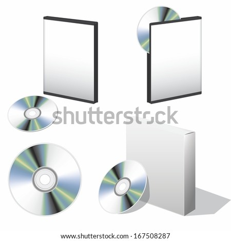 blank box for DVD with a disk set