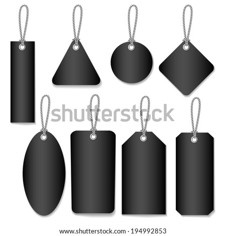 Blank Labels Template Price Tags Set Stock Vector 194992850
