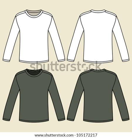 Longsleeved tshirt tshirt template stock vector 112215338 for Blank long sleeve shirt