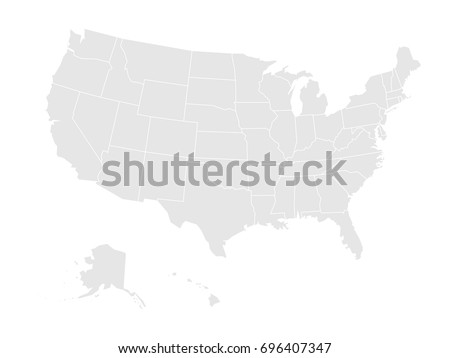 Blank Outline Map Usa Stock Vector Shutterstock - Blank map of us with territories