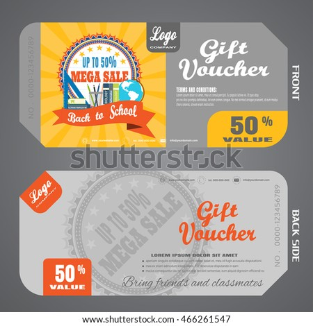 Blank Stylish Gift Voucher Case Vector Stock Vector 458206078