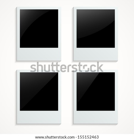 Blank photo on white background - Vector illustration