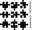 blank puzzle pieces, image applicable to several concepts - stock