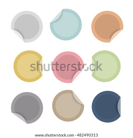 Blank special offer colorful stickers. Vector set,eps 10