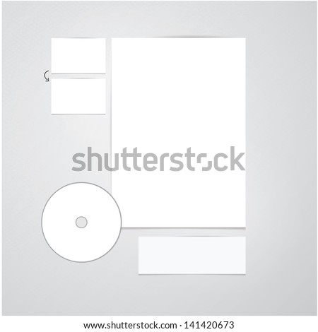 Blank vector office presentation with soft shadows.