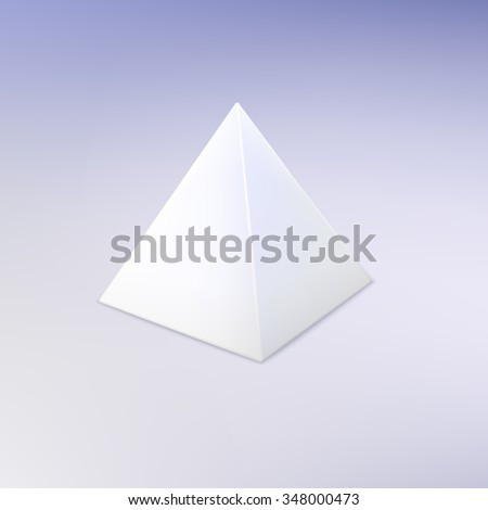 Small Pyramid Box Die Cut Template Stock Illustration 367860728