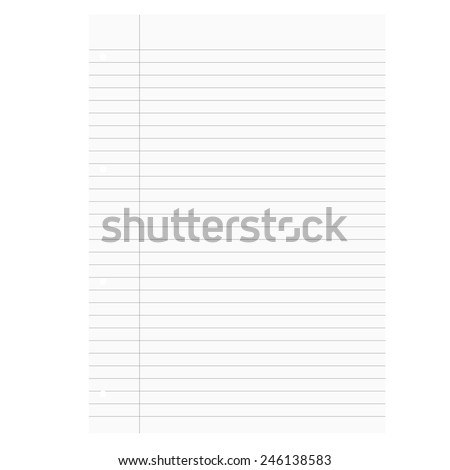 Lined Exercise Book Red Margin Double Vector 457441252 – Double Lined Paper