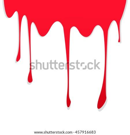 Flowing Blood Drops Stock Vector 36081127 - Shutterstock