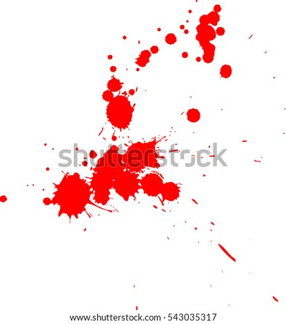 Blood splatter on white background
