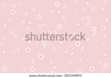blossom cluster seamless pattern background,Vector floral pattern in doodle style with flowers and leaves. Gentle, spring floral background.Seamless pattern with small flowers