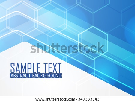 Blue abstract background illustration. Template for business card or banner