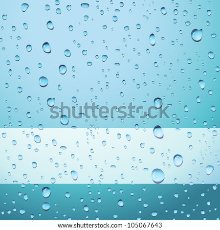 Blue abstract background with drops and copy space - no transparency applied