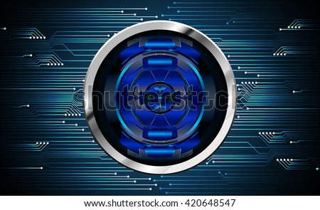 blue abstract hi speed internet technology background illustration. eye scan virus computer. motion move. Spark. vector