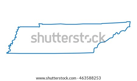 blue abstract outline of Tennessee map
