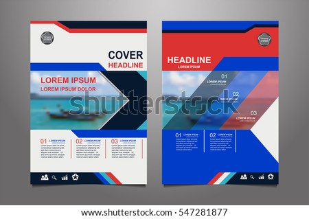Blue Vector Annual Report Leaflet Brochure Stock Vector 556312324
