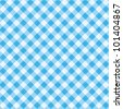 Blue and white gingham cloth background with fabric texture, plus seamless pattern included in swatch palette ( for high res JPEG or TIFF see image 101404864 )  - stock photo