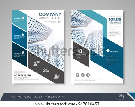 Brochure Design Annual Report Cover Flyer Stock Vector 465689732