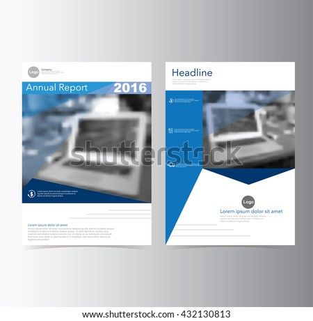 Blue annual report leaflet brochure flyer stock vector for Book report brochure template