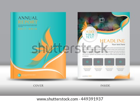 Green Cover Annual Report Template Vector Stock Vector 412623013