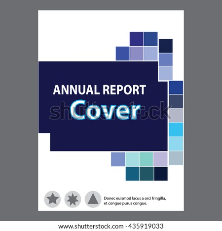 Blue Annual Report Title Page Sample Stock Vector