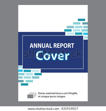 Annual Report  Book Cover Design Stock Vector