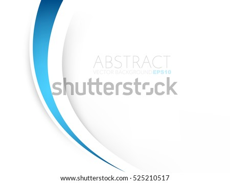 Blue background curve and line element vector overlap paper layer with space for text and message artwork design