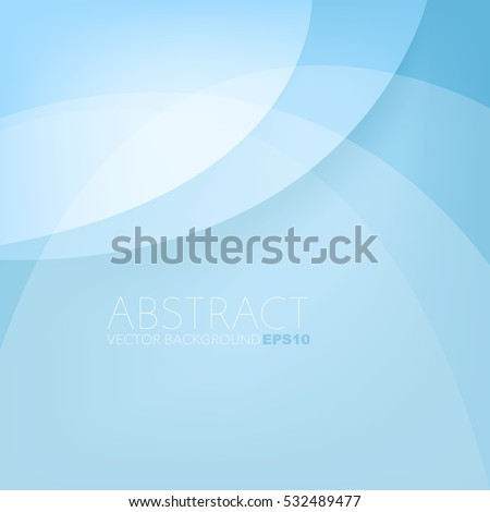 Blue background curve layer overlap paper with space for background design , Vector
