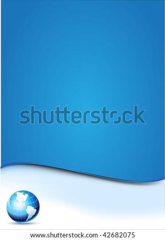 Blue background with Earth globe