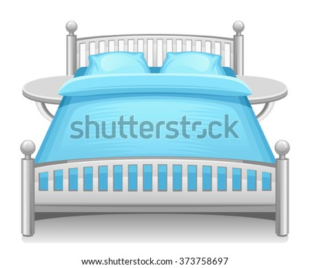 Living room objects furniture and equipment vector illustration - Furniture Childrens Rooms Accessories Newborn Baby Stock