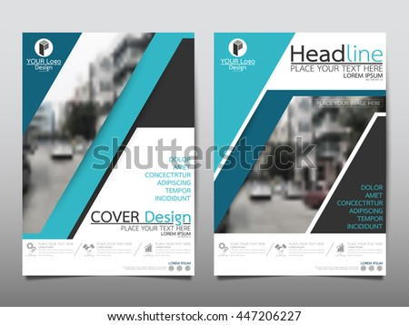Green Annual Report Brochure Flyer Design Stock Vector