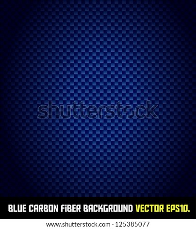 BLUE carbon fiber background VECTOR EPS10.