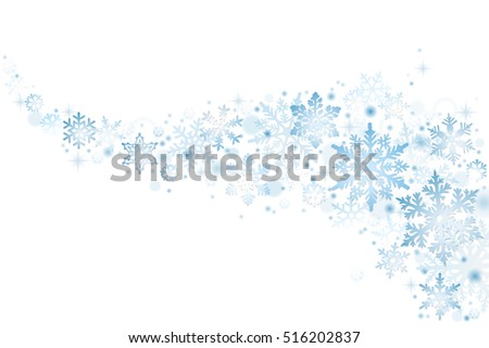Blue Christmas snowflakes on white background