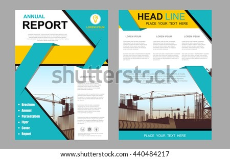 construction brochure template - brochure design template vectorflyers report business