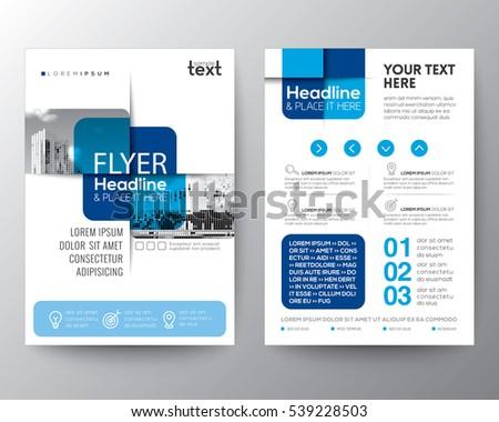 Design Folding Brochures Red Blue Polygonal Stock Vector 359042225 ...
