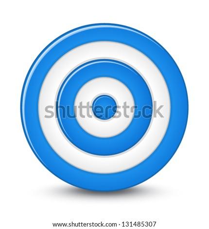Aim Target Logo Blue Darts Target Aim on White