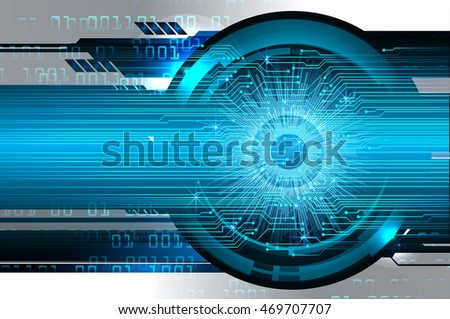 blue eye abstract cyber future technology concept background, illustration, circuit, binary code. move motion speed. sci-fi. Spark. vector