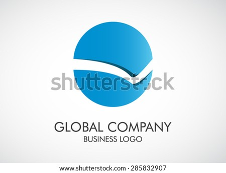 Circle abstract shape logo vector illustration stock for Global design firm