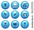 Blue internet icons 16 - stock vector