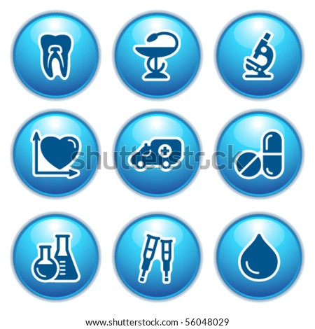 Blue internet icons 12