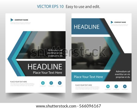 Blue Brochure Layout Design Template Annual Stock Vector 453391627