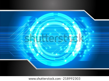 blue Light Abstract Technology background for computer graphic website and internet, circuit board.