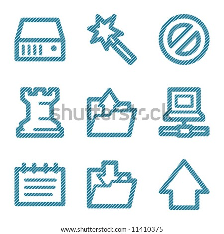 Blue line data contour icons V2