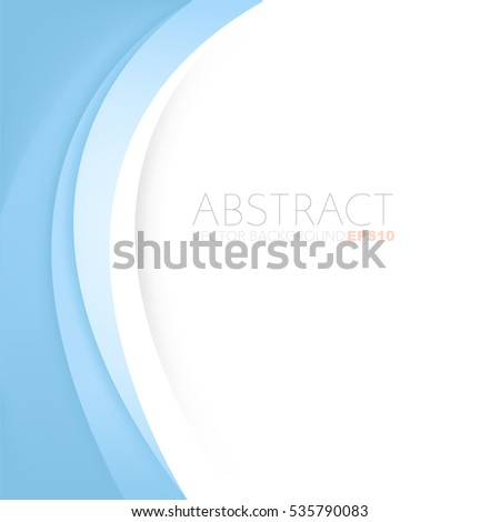 Blue line vector background curve paper layer with white space for text and message background design