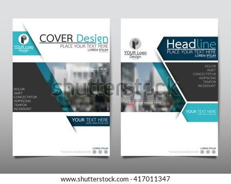 Blue Annual Report Brochure Flyer Design Stock Vector