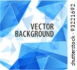 Blue triangle abstract vector background - stock photo