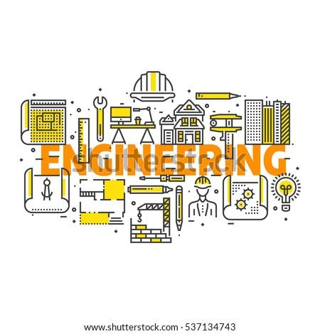Blueprint engineer line icons design concept vectores en stock blueprint and engineer line icons design set for poster header web line malvernweather Images