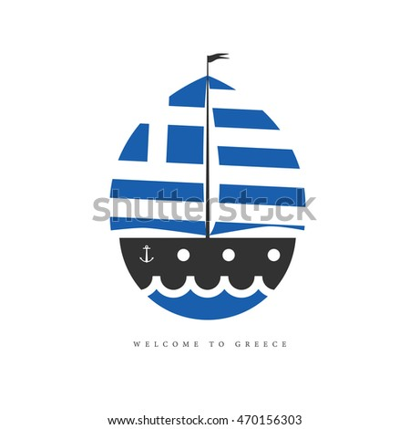 greek flag template - vector template yacht club yacht race stock vector