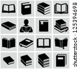Book icons - stock vector